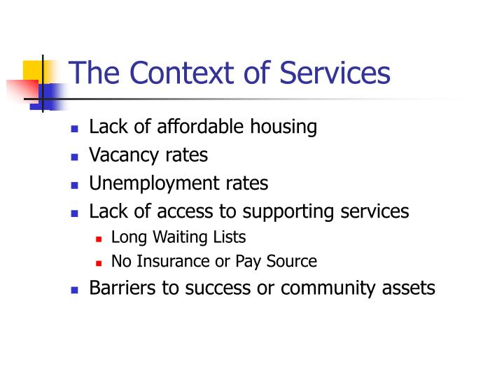 The Context of Services