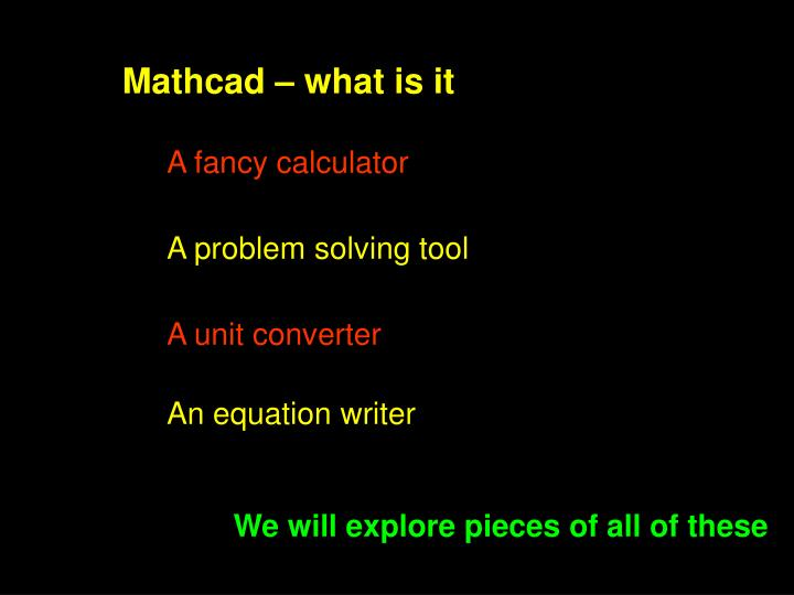 Mathcad – what is it