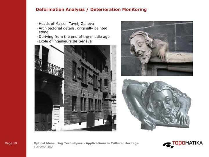 Deformation Analysis / Deterioration Monitoring