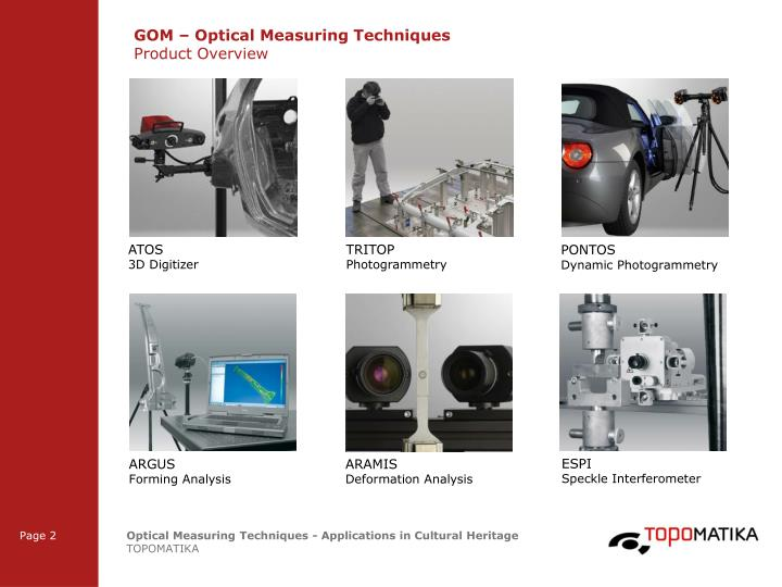 Gom optical measuring techniques product overview