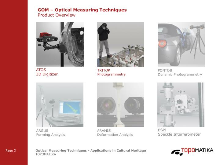 GOM – Optical Measuring Techniques