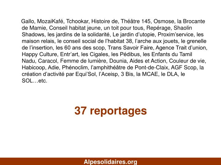 37 reportages