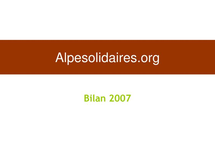 Alpesolidaires.org