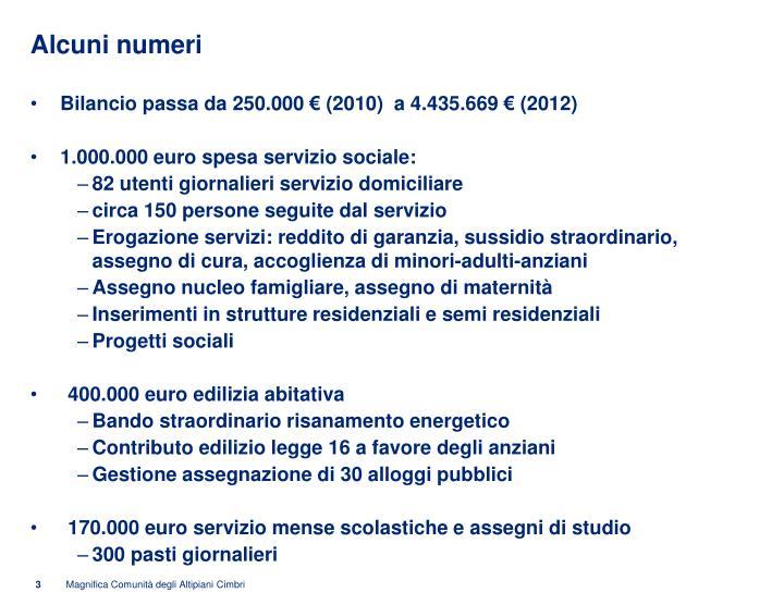 Alcuni numeri