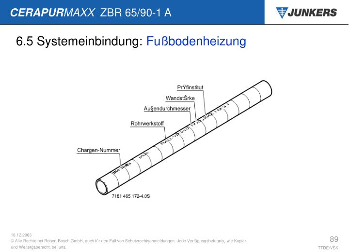 6.5 Systemeinbindung: