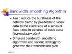 bandwidth smoothing algorithm