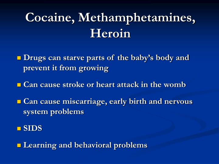 Cocaine, Methamphetamines, Heroin