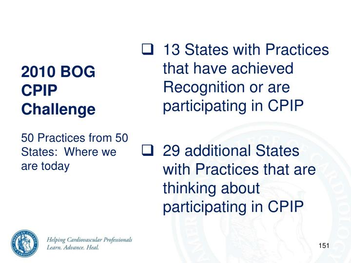 2010 BOG CPIP Challenge