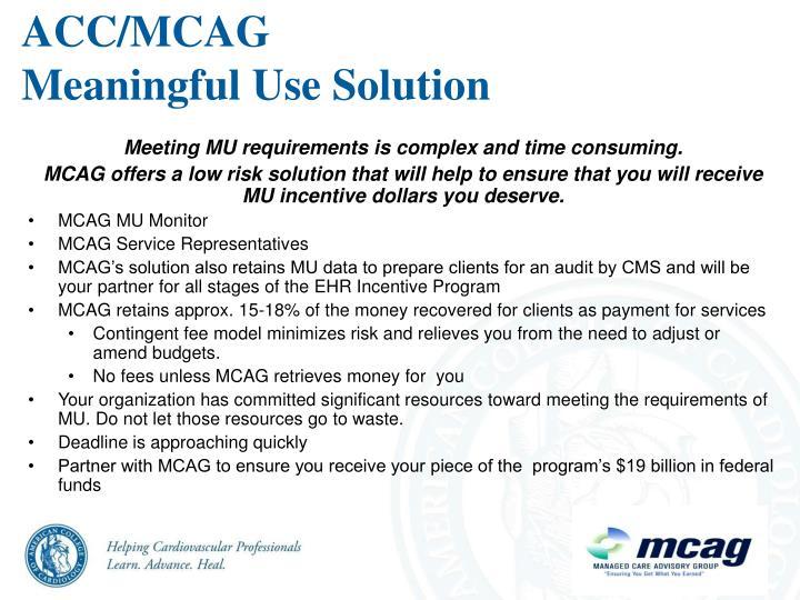 ACC/MCAG