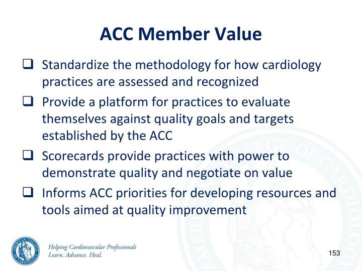 ACC Member Value