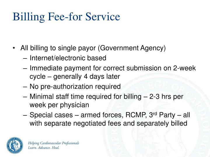 Billing Fee-for Service