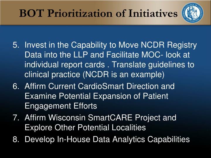 BOT Prioritization of Initiatives