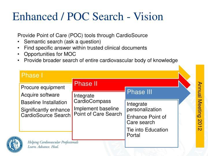 Enhanced / POC Search - Vision