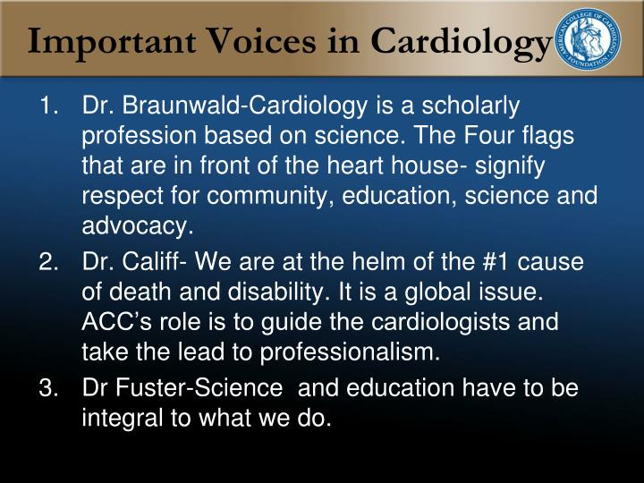 Important Voices in Cardiology