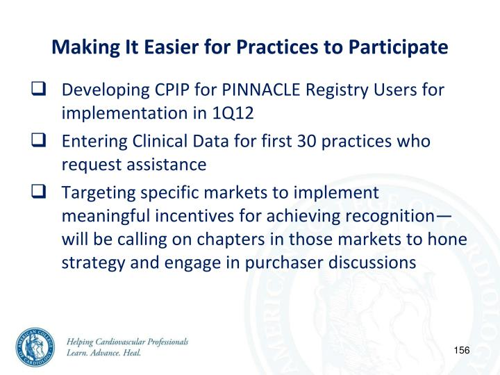 Making It Easier for Practices to Participate