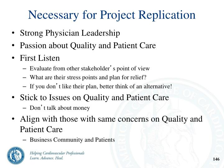 Necessary for Project Replication
