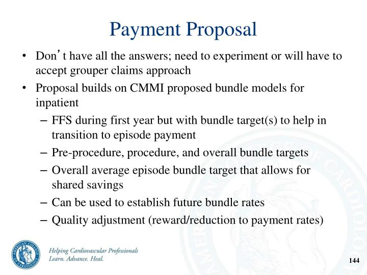 Payment Proposal
