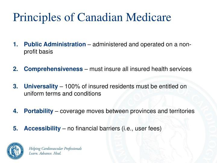Principles of Canadian Medicare