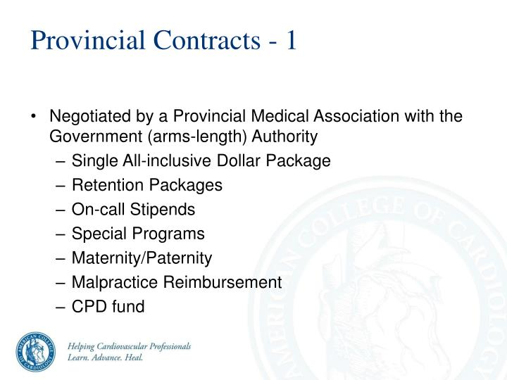 Provincial Contracts - 1