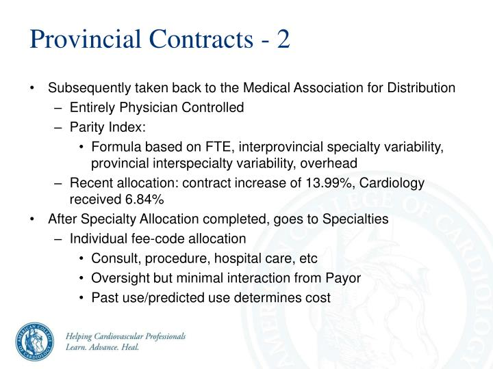 Provincial Contracts - 2