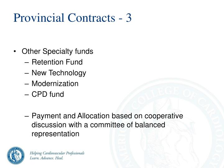 Provincial Contracts - 3