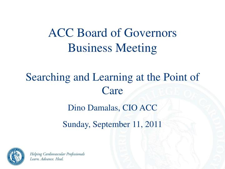 ACC Board of Governors