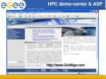hpc demo center asp