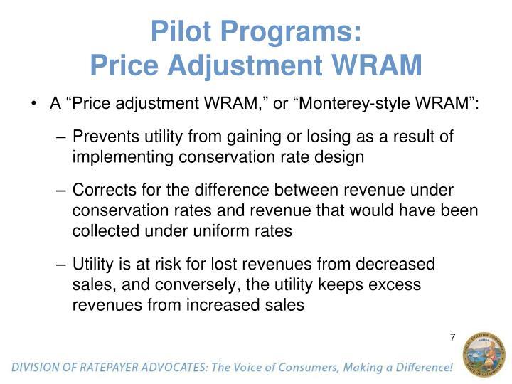 Pilot Programs: