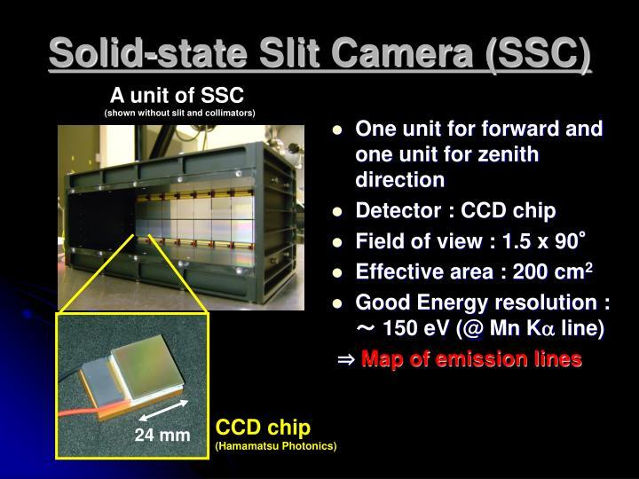 Solid-state Slit Camera (SSC)