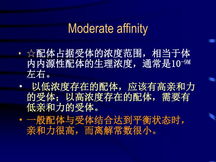 Moderate affinity