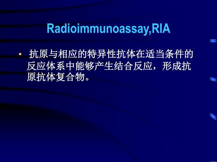 Radioimmunoassay,RIA