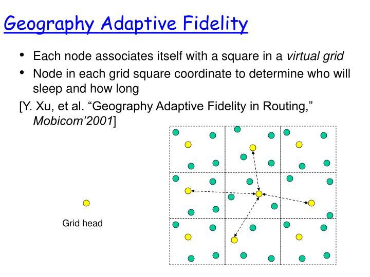 Geography Adaptive Fidelity
