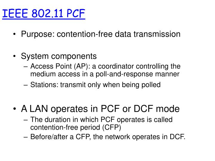 IEEE 802.11 PCF