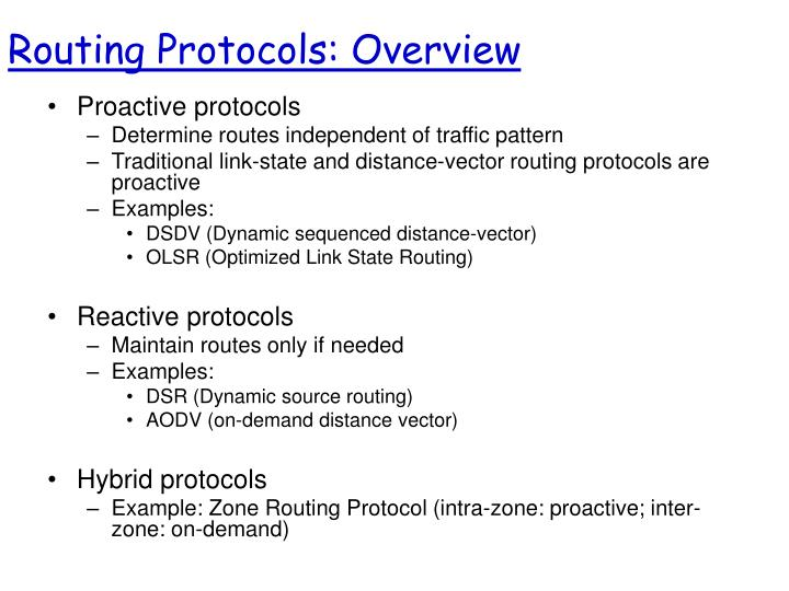 Routing Protocols: Overview