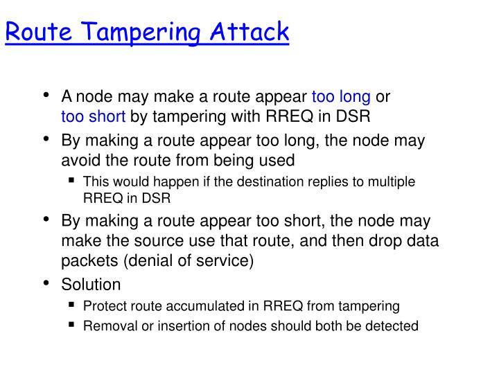 Route Tampering Attack