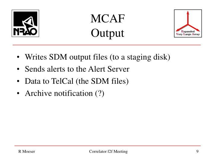 Writes SDM output files (to a staging disk)
