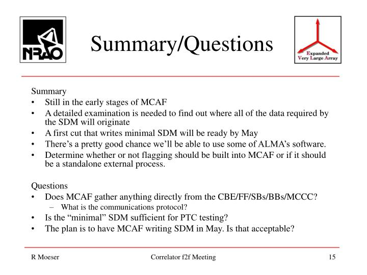 Summary/Questions