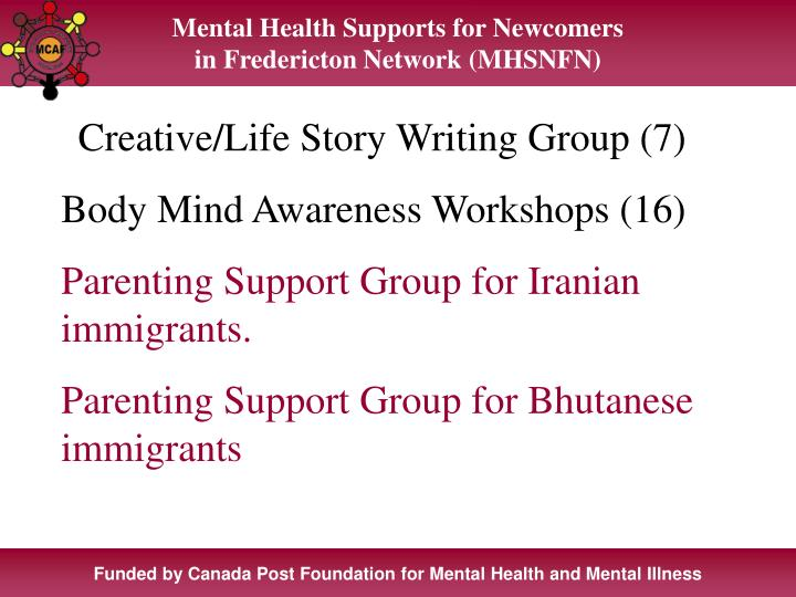 Mental Health Supports for Newcomers