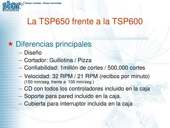 La TSP650 frente a la TSP600