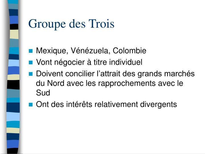 Groupe des Trois