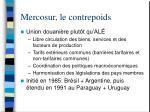 mercosur le contrepoids