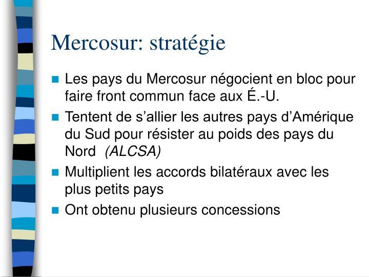 Mercosur: stratégie