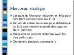 mercosur strat gie