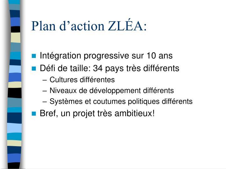 Plan d'action ZLÉA: