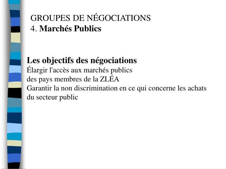 Les objectifs des négociations