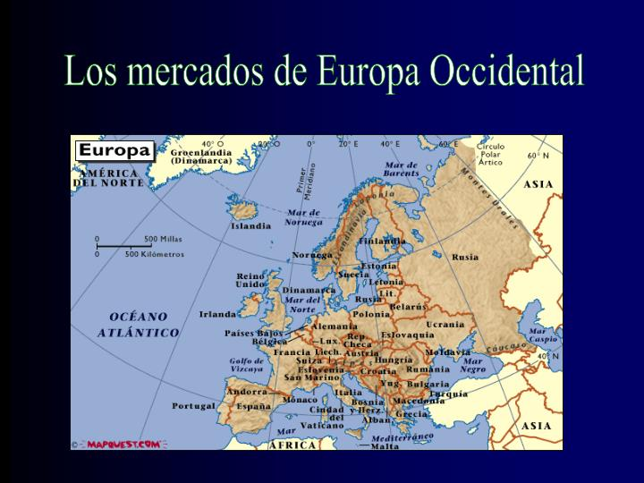 Los mercados de Europa Occidental