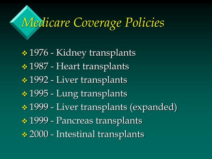 Medicare Coverage Policies
