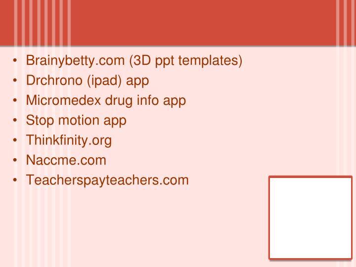 Brainybetty.com (3D ppt templates)