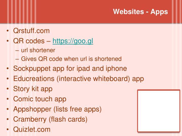 Websites - Apps