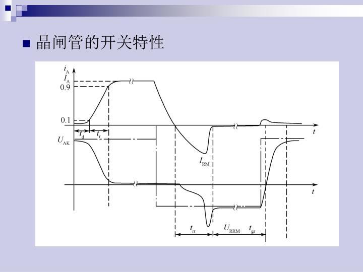 晶闸管的开关特性